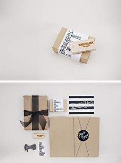 Inspiration for book packaging - LOVE what Marie Holmes Photography did with her packaging!