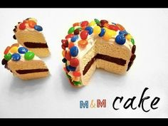 MINI M CAKE - Polymer Clay Tutorial - YouTube