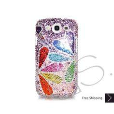 Colore Petalo Bling Swarovski Crystal Samsung Galaxy S3 i9300 Custodie
