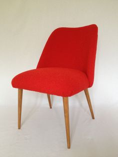 Pillar box red Tiree boucle 7651 make this look so snuggly, thanks to BB Bespoke Furniture