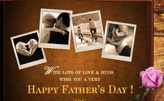 Send warm wishes to your father on Father's Day. Free online Father's Day Wishes For You ecards on Father's Day Fathers Day Ecards, Fathers Day Messages, Fathers Day Wishes, Happy Dad Day, Happy Fathers Day, Diy Father's Day Gifts, Gifts For Dad, Dad Birthday, Birthday Wishes
