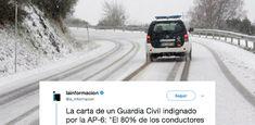 El tremendo cabreo de un Guardia Civil con los atrapados en la nieve se ha vuelto viral.