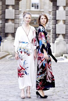 Our kimonos and kaftans turned a lot of heads at London Fashion Week!