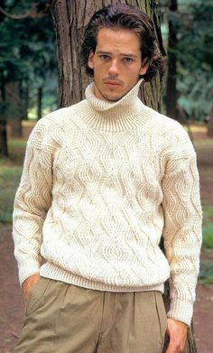 Sweater turtleneck men hand knitted made to order by BANDofTAILORS