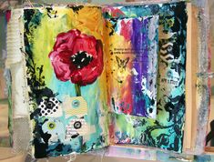 Donna Downey Studios - art journal pages. Journal Inspiration, Colorful Art, Art, Collage Art, Art Journal, Creative Art, Book Art, Altered Art, Art Journal Pages