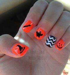 Free ShipSet of 20 Halloween/Fall Nail by FireflyInAMasonJar, $4.00