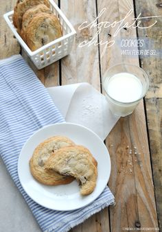 Chewy Chocolate Chip Cookes w/ Fleur de Sel (Gluten-Free) | Shared over on Creature Comforts today