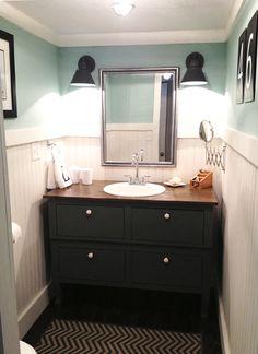 The Shabby Creek Cottage - farmhouse interiors re-designed: Bathroom Makeover Reveal
