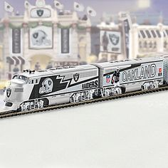 Shop The Bradford Exchange for Oakland Raiders. Oakland Raiders Football, Nfl Oakland Raiders, Nfl Football, Gifts For Football Fans, Hawthorne Village, Electric Train Sets, Raider Nation, Layout, A Whole New World