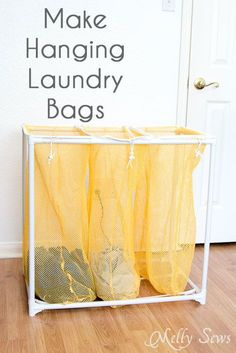 Sew Hanging Laundry Bags - Melly Sews