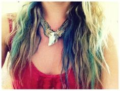 Ombre Hair Chalk style pic on Free People