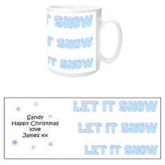 £4.99 Personalised Let is Snow Message Mug from Personalise My Day