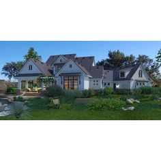 TheHouseDesigners-3151 Construction-Ready Large Farm House Plan with Slab Foundation (5 Printed Sets) 4000 Sq Ft House Plans, One Level House Plans, House Floor Plans, One Level Homes, Architectural House Plans, Open Space Living, Modern Farmhouse Plans, Slab Foundation, House Blueprints