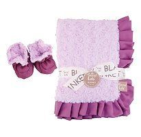 Trend Lab Receiving Blanket and Bootie Set - Lilac Rosette by Trend Lab. $37.22. Keep your little one warm and secure with this lilac rosette and plum satin ruffle trimmed receiving blanket and matching bootie set by Trend Lab.