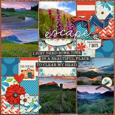 some time by Miss Kim Kit is Great Outdoors: Escape by Kristin Cronin-Barrow. Template by Traci Reed.