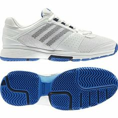 bf91521b362c6c New Adidas Barricade Team 3 White Blue Ladies http   suliaszone.com