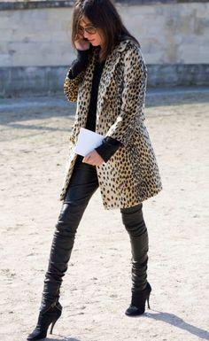 emanuelle alt (<3 her), making a leopard coat look sleek--not garish.
