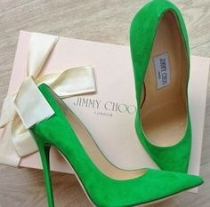 Want these Jimmy Choo green heels. Ordered these in blue but in leather. Need in every colour.