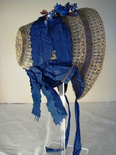 Profile of 1840s bonnet, Hats and Bonnets at Berrington Hall 2014, Snowshill Collection