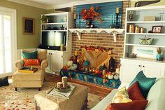 Build a Fireplace Insert Draft Stopper {a Lowe's Creator Idea} - Pretty Handy Girl Wood Fireplace Inserts, Reclaimed Wood Fireplace, Build A Fireplace, Paint Fireplace, Fireplace Cover, Reclaimed Lumber, Fireplace Doors, Fireplace Ideas, Fake Pumpkins