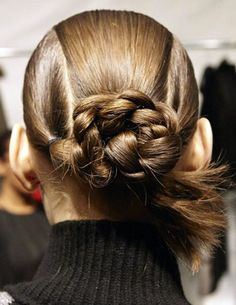 Bibhu-Mohapatra-Braided-Bun-Hairstyle-2014 So cute!