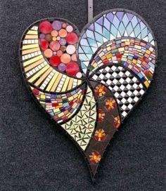 mosaic heart #Crafts