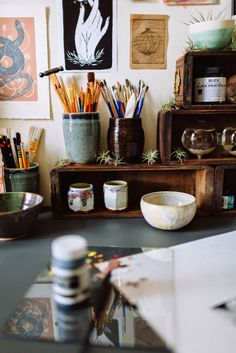 Moon to Moon: The workspace of... Artist Joëlle Workman STUDIO SPACE!