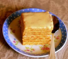 Authentic Smetannik (Russian cake with sour cream frosting)..., ,