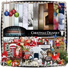 Christmas Delivery by Holliewood Studios @ DeviantScrap. A digital scrapbook/art kit.