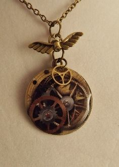 'Steampunk Resin Pendant' is going up for auction at 11pm Thu, Aug 16 with a starting bid of $5.