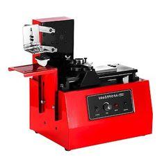 Happybuy Pad Printer Desktop Automatic Pad Printer Machine YM600-B 110V Electric Pad Printing Machine Move Ink printing T-shirts Balls Pens Lights Etc