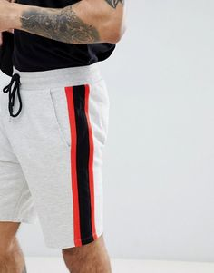 32186406ca5f ASOS DESIGN jersey skinny shorts with contrast side stripe panels Skinny  Shorts