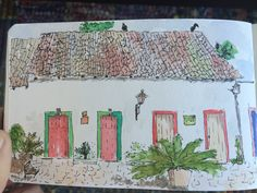 Urban sketchers went to Paraty in Rio-Brazil this year. I wish I had been there, but since I didn't go, here it is a little sketch of the quaint town.