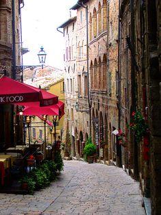 Cobblestone Street, Volterra, Tuscany