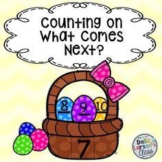 Counting On What Comes Next Easter Basket This product includes 10 no prep worksheets for counting and cardinality standard K.CC.2 Counting forward beginning from a given number within a known sequence.  The kids can have fun in your math block while you do a quick progress monitoring of this important skill No Prep  worksheets, perfect for morning work, homework, or stash one in your sub folder.