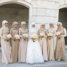 Prepare to be spammed! So many #inspiration pics to share! These ladies are all looking amazing, seriously ....like seriously amazing. @hanahashem alf mabrouk #thehijabbride #muslimbride #modestbride