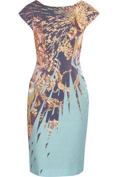 PATTERN FOR SALE @ BURDA.COM!  Matthew Williamson|Printed cotton-blend satin dress|NET-A-PORTER.COM