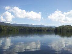 Reflections off Lake Santeetlah