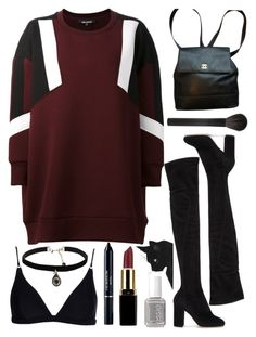 """#282"" by sorry-not-sorry-1 ❤ liked on Polyvore featuring Neil Barrett, Dolce&Gabbana, Chanel, Giorgio Armani, Acne Studios, Christian Dior, Natalie B and Essie"