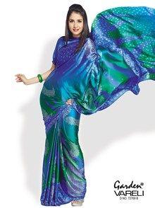 Buy Get Noticed Crepe Satin Saree from Gardenvareli at Rs.1157/- #crepe#satin#sarees