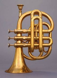 NMM 7308. Pocket cornet in B-flat by Pask & Koenig, London, ca. 1850. Joe R. and Joella F. Utley Collection, 1999.