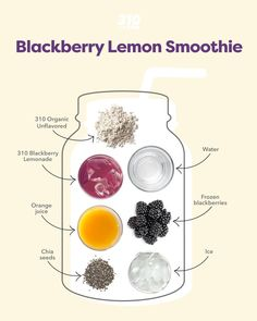 In this recipe, alkalizing 310 Blackberry Lemonade and 310 Organic Unflavored make this drink not only incredibly delicious, but also powerfully nutritious and balancing. Protein Powder Recipes, Protein Shake Recipes, Protein Shakes, Yummy Drinks, Healthy Drinks, Healthy Breakfast Recipes, Healthy Recipes, Lemon Smoothie, How To Freeze Blackberries