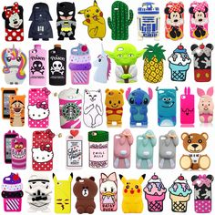 3D Cartoon Silicone Rubber Phone Case For Iphone 5 6 7 Plus Samsung Galaxy J3 J7  | eBay