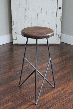 """Items similar to 26 """"modern stool on Etsy Welded Furniture, Iron Furniture, Steel Furniture, Handmade Furniture, Table Furniture, Modern Furniture, Furniture Design, Cheap Furniture, Chaise Bar"""