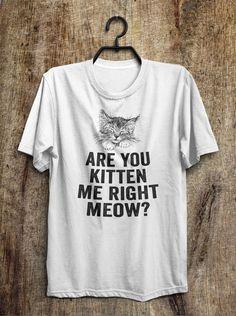 are you kitten me right meow? t shirt – Shirtoopia