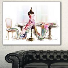Designart 'Dressed Tabletop Mannequin' Digital Art Canvas Print