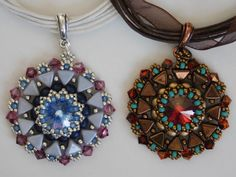 Bead Pendant Tutorial Beaded Pattern Jewelry di poetryinbeads