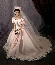 #wedding dolls bridal barbie gowns Tonner doll..1.....2 qw