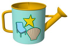 ''Star, Chair, Shell'' Watering Can / スイカ (スター、椅子、貝)