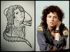 Ripley and xenomorph design #alien